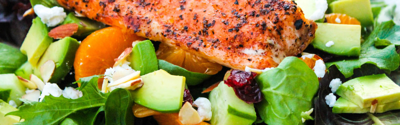 Avocado Citrus Salmon Salad